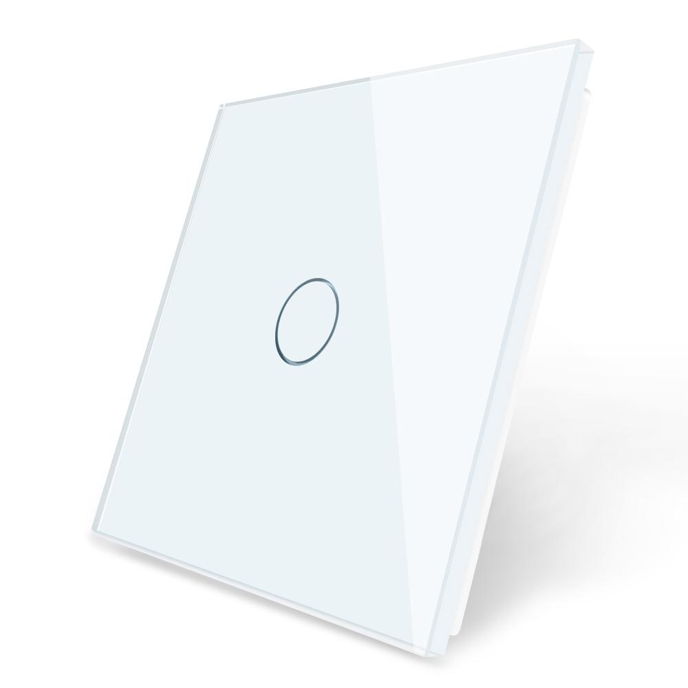vienviete, vienpole sviesos jungiklio stiklo panele