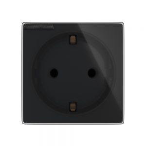 Kistukinis lizdas su dangteliu juodas